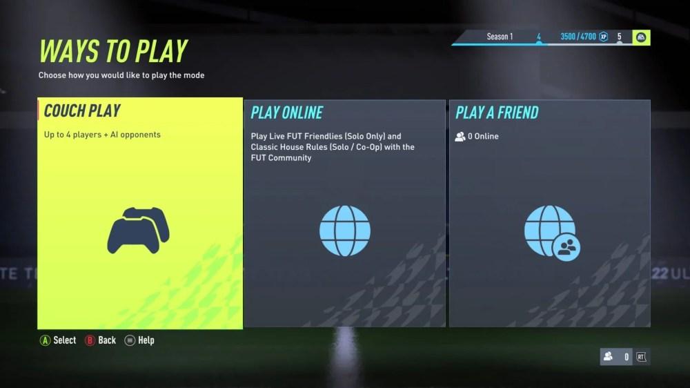 FIFA 22 ver el equipo de un amigo
