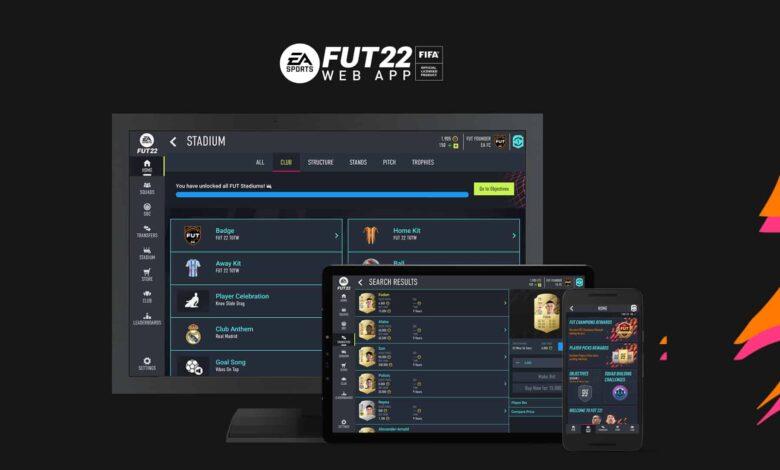 FIFA 22: Lanzamiento de la nueva aplicación web FUT - Actualización en vivo