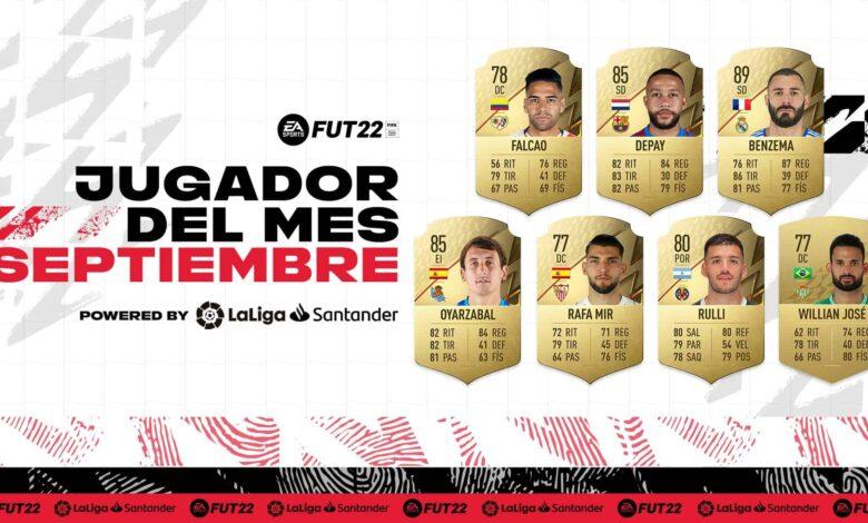 FIFA 22: Nominaciones de La Liga al POTM de septiembre