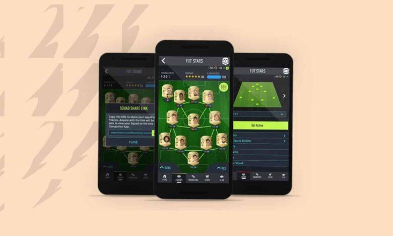FIFA 22: Nueva aplicación complementaria FUT - Lanzamiento de actualización en vivo