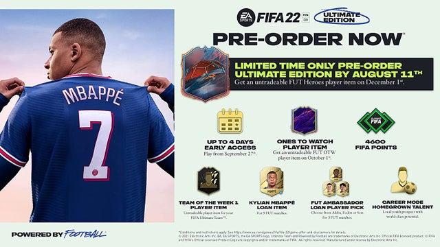 fifa 22 ultimate edition 4600 puntos fifa