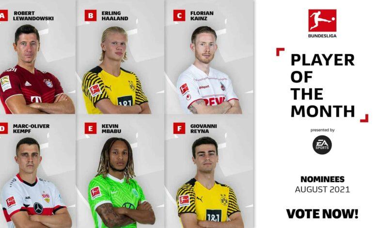 FIFA 22: nominaciones de la Bundesliga de agosto al POTM