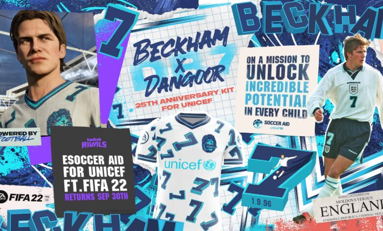 FIFA 22: se ha anunciado un kit de celebración dedicado a David Beckham