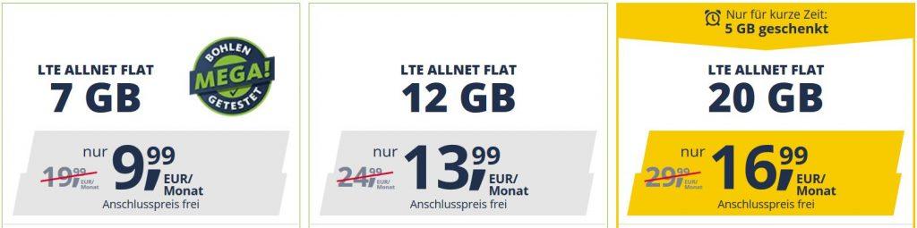 Tarifas planas LTE Freenet Mobile