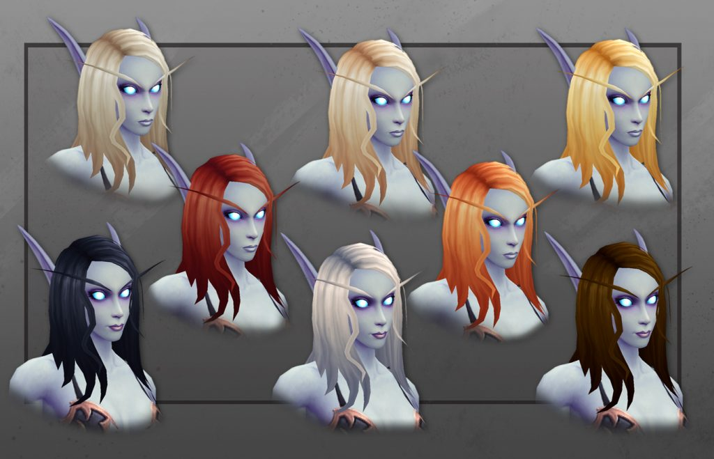 WoW New Void Elf Hair Colors
