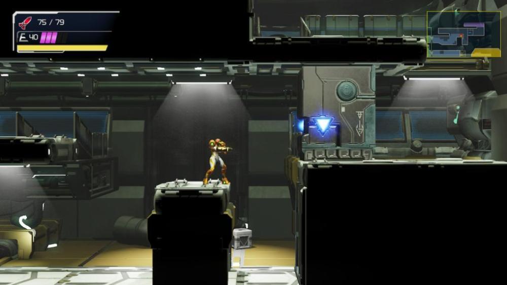 Caja de viga de garfio de Metroid dread