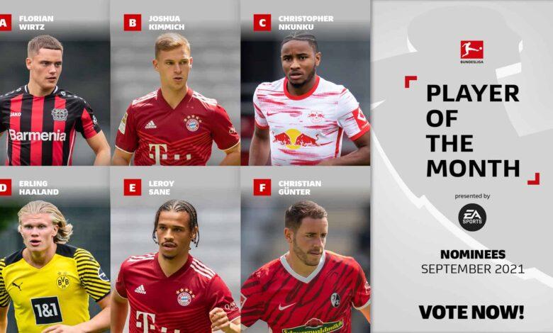 FIFA 22: Nominaciones POTM de septiembre de la Bundesliga
