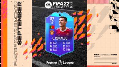 FIFA 22: SBC Cristiano Ronaldo POTM Septiembre Premier League - Requisitos y soluciones