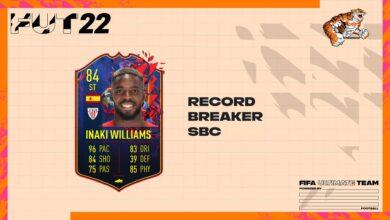 FIFA 22: SBC Inaki Williams Record Breaker - Soluciones para canjear la tarjeta especial