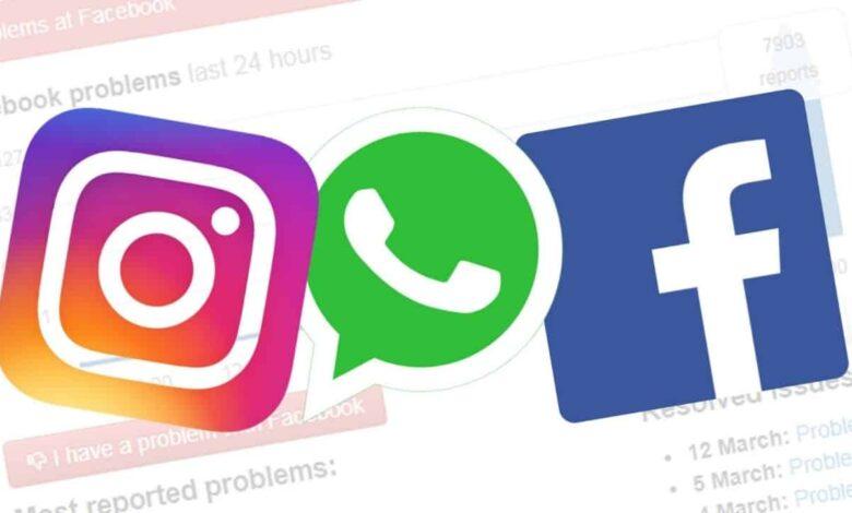 Instagram, WhatsApp y Facebook Down: el servidor no funciona